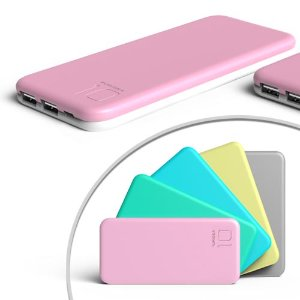 Dealmoon Exclusive! PURIDEA S2 Series Dual USB Power Bank External Battery, 2 Chargers,Multiple Colors