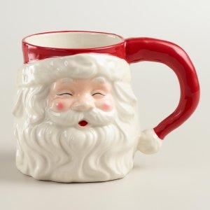 Hand-Painted Santa Mug, Set of 4 | World Market