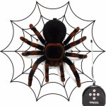 8'' Realistic RC Spider Scary Toy 4CH Remote Control