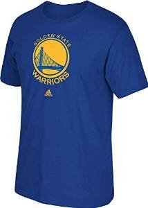 $9.99 NBA Golden State Warriors Men's Full Primary Logo Short Sleeve Tee, Blue