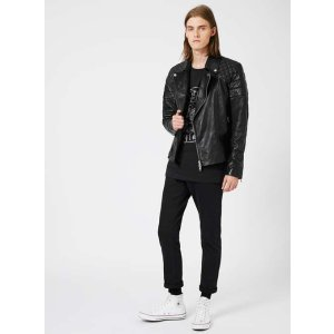 Black Quilted Leather Biker Jacket* - New This Week - New In - TOPMAN USA