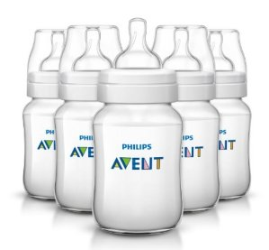 $16.33 Philips Avent Classic Plus Baby Bottles, 9 Ounce (5 Pack)