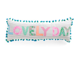 15x42 Lovely Day Pillow With Pom Poms - Decorative Pillows - T.J.Maxx