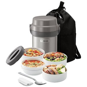 $31.99 Zojirushi Mr. Bento Stainless Steel Lunch Jar Set