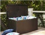 $99 Suncast 52-in L x 29-in W 124-Gallon Java Resin Deck Box