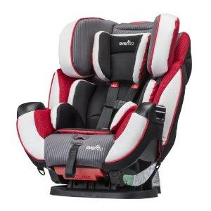 $129.99(原价$229.99)史低价!Evenflo Symphony DLX 全合一双向汽车安全座椅