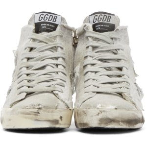 Golden Goose: Grey Francy High-Top Sneakers