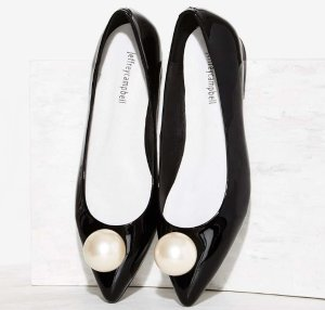 $145 Jeffrey Campbell Leta-Pearl Leather Flat @ Nasty Gal