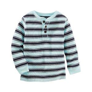 Toddler Boy Striped Thermal Henley   OshKosh.com