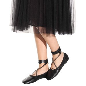 mytheresa.com - Rockstud Ballerina Noir leather ballerinas - Luxury Fashion for Women / Designer clothing, shoes, bags