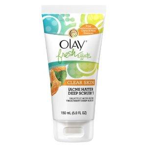 Olay Fresh Effects Clear Skin Acne Hater Deep Scrub Salicylic Acid Acne Treatment Deep Scrub 150ml (5.0 FL. OZ.): Beauty