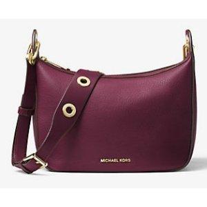 MICHAEL MICHAEL KORS Raven Medium Leather Messenger Bag