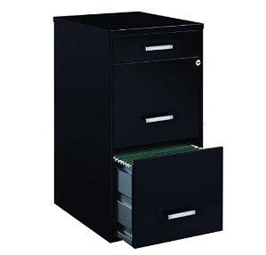 #1 Best seller! $70.88Space Solutions 3-Drawer File Cabinet, 18-Inch Deep, Black