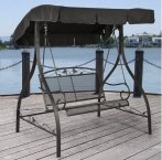 $99 Mainstays Jefferson Wrought Iron Outdoor Swing, Seats 2
