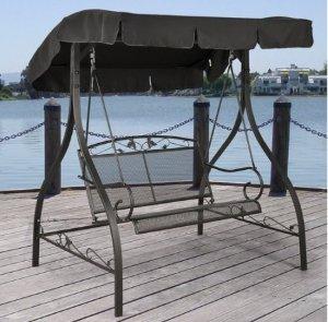 Mainstays Jefferson Wrought Iron Outdoor Swing, Seats 2