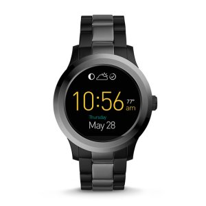 Q Founder 2.0 Touchscreen Two-Tone Stainless Steel Smartwatch - Fossil