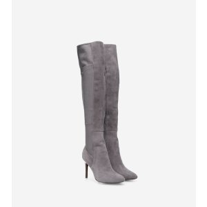Emilee Over The Knee Boots 85mm in Gray