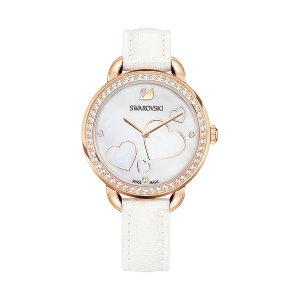 Aila Day Heart Watch, White - Watches - Swarovski Online Shop