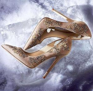 $448.5(Org. $1495) Jimmy Choo Karmel 85 Crystal-Embellished Suede & Mesh Pumps Sale @ Saks Fifth Avenue