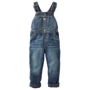 Baby Boy Fleece-Lined Denim Overalls   OshKosh.com