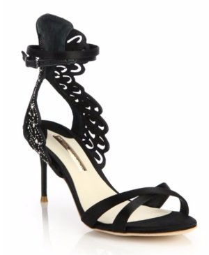 Sophia Webster Micah Embellished Satin & Leather Sandals