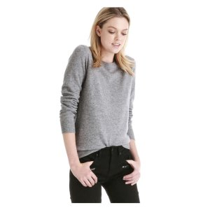 Cashmere Sweater in Grey Mix from Joe Fresh