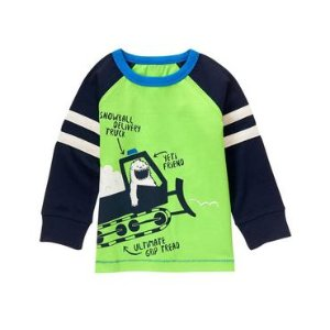 Toddler Boys Limeade Yeti Plow Tee by Gymboree