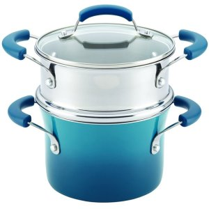 Today Only! Rachael Ray 17647 Nonstick Sauce Pot and Steamer Insert Set, 3 quart