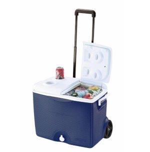 $24.97 Rubbermaid 45 Qt. Blue Wheeled Cooler