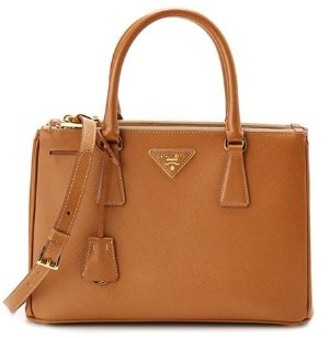 Prada Small Saffiano Lux Leather Tote