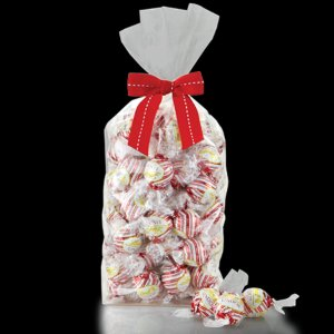 Peppermint White Chocolate LINDOR Truffles 75-pc Gift Bag | Lindt Chocolate