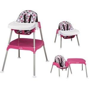 Evenflo - Convertible High Chair, Dottie Rose - Walmart.com