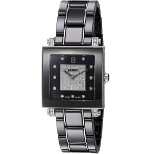 Fendi Ceramic Diamonds Ladies Watch Model: F625110DPDC