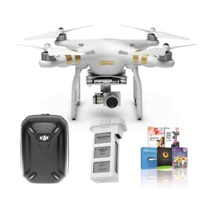 $899 DJI Phantom 3 Professional Quadcopter Drone 4K Camera Dual Battery Hard Backpack Bundle