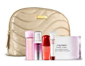 Free 5-piece Gift Set with purchase of any two Shiseido Skincare Products @ Bloomingdales
