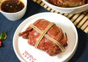 4 Crabs/Box for $57.2 Cuibanzhang Cooked Saturated Mitten Crabs,, 3 Flavors Available @ Yamibuy