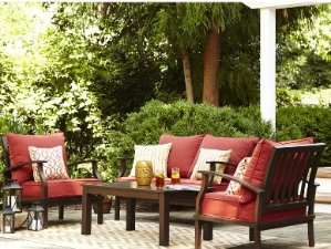 $324.00(Reg.$598.00) Allen + Roth Gatewood 2-Piece Aluminum Patio Conversation Set