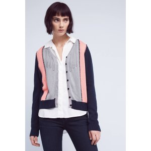 Cropped Colorblock Cardigan | Anthropologie