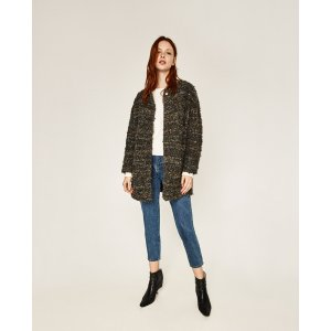 ROUND NECK COAT - View All-OUTERWEAR-WOMAN-SALE | ZARA United States