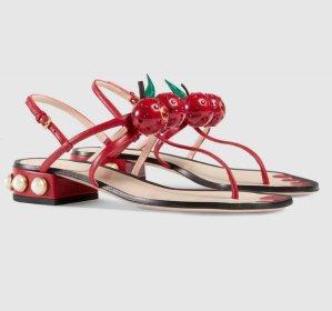 £604GUCCI Embellished leather sandals @ Net-A-Porter UK