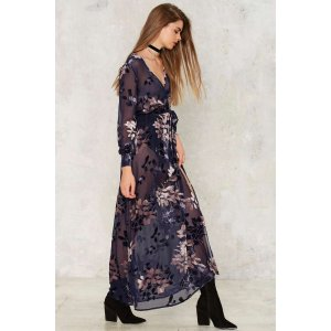 Feel the Burnout Velvet Maxi Dress