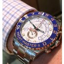 ROLEX Yacht-Master II White Dial Stainless Steel and 18K Everose Gold Oyster Automatic Men's Watch 116681