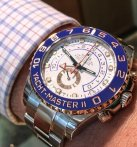 $18450 ROLEX Yacht-Master II White Dial Stainless Steel and 18K Everose Gold Oyster Automatic Men's Watch 116681