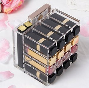 Lightning deal! $16.99 Langforth Premium Acrylic Lipstick Holder Case 16 Spaces