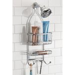InterDesign York Lyra Bathroom Shower Caddy for Shampoo, Conditioner, Soap - Silver