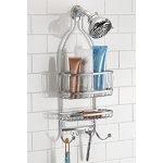 InterDesign York Lyra Bathroom Shower Caddy for Shampoo, Conditioner, Soap - Silver