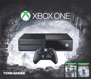 Xbox One 1TB Rise of the Tomb Raider Bundle (4Games, 2 Controllers, $50GC, Battery Station)
