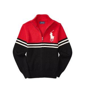 Cotton Full-Zip Sweater - Sweaters � Big Kid (sizes 8-20) - RalphLauren.com