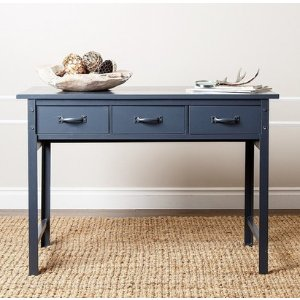 Booker Antiqued Blue Console Sofa Table