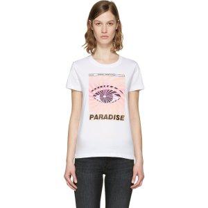 Kenzo White 'Paradise' Flyer T-Shirt